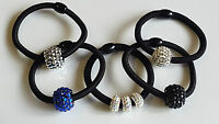 DIAMOND Ring Ladies Hair Bands ELASTIC Ponytail TIE Bobbles VINTAGE TREND DESIGN
