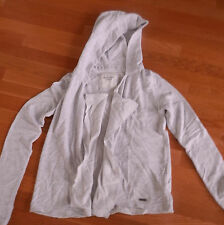 NWT Abercrombie & Fitch Maria Hoodie Cardigan Sweater Open Front Light Gray M