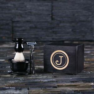 Personalised Engraved Shaving Brush and Razor: Unique Gift for Men, Ushers, Dad