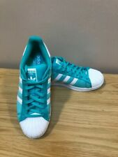 adidas Originals Superstar Trainers in Green & White Mens UK8 US8.5 EU 42 New