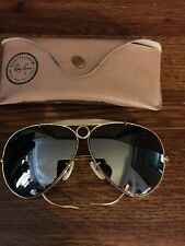 RARE VINTAGE 1970's B&L RAY BAN USA BULLET SHOOTERS AVIATOR SUNGLASSES WIRE 58mm