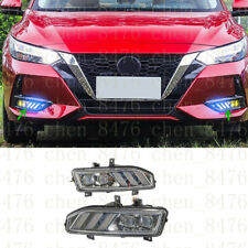 2x LED Fog Lights(DRL)White & Yellow & Blue For Nissan Sentra 2019-2020s
