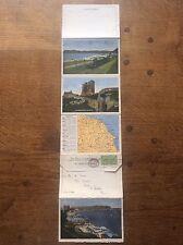 Set 10 colour Photographs Postcard Letter Card Scarborough North Yorkshire MAP