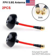 2pcs 5.8GHz FPV Antenna Circular Polarized TX RX RHCP SMA for FPV Racing Drone