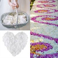 100-1000 PCS 5cm*5cm Silk Flower Rose Petals Wedding Party Decor White