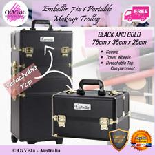 Embellir 7in1 Portable Makeup Cosmetic Storage Trolley Beauty Case Gold 'N Black