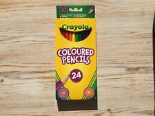 Crayola 24 Multi Coloured Colouring Pencils | Long Smooth Thick Lead | FreePost