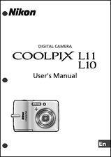 Nikon CoolPix L10 L11 Digital Camera User Guide Instruction  Manual