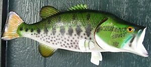 "Large Mouth Bass Taxidermy Quality 18"" Wall Art"