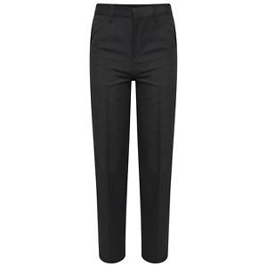 Boys Black/ Charcoal /Grey/Navy  School Trousers Regular/ Slim Fit Age 3yr-18yr