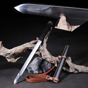 High manganese steel Short Sword Camping Battle Sword knife Blade Sharp #1753