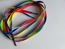1 PAIR OF RAINBOW LACES Shoe Boots Trainers approx 110 cm Long Gay Pride LGBT