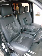 TO FIT A TOYOTA HIACE VAN, SEAT COVERS, PANEL, BLACK DIAMOND, MADE TO MEASURE
