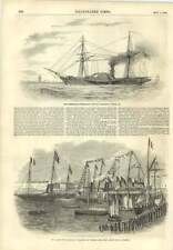 1856 Lords Of The Admiralty Embarking Victoria Pier Retribution Steam Frigate