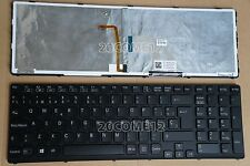 NEW for SONY VAIO E17 SVE 17 SVE17  Keyboard Teclado Spanish Backlit Black