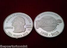 PESETA 75 años LEONES DE PONCE 1938  2013  Puerto Rico BASEBALL Quarter 1/100