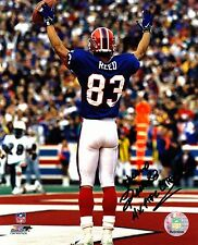 ANDRE REED Auto Autograph Signed Picture Photo 8X10 Buffalo Bills 4x AFC Champs