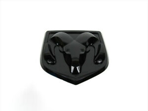 2013-2019 Dodge Ram 1500 2500 3500 TAILGATE RAMS HEAD BADGE EMBLEM BLACK MOPAR