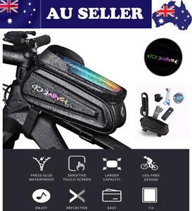 Waterproof Mountain Bike Frame Front Bag Mobile Phone Holder Bicycle Hiking Bag