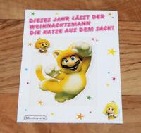 Super Mario 3D World Bros U Wii Nintendo 3DS 2DS Weihnachten Postkarte Aufkleber