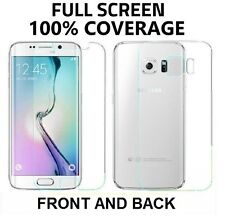 Full Coverage Front+Back Anti Shock Screen Protector Samsung Galaxy S6 Edge PLUS