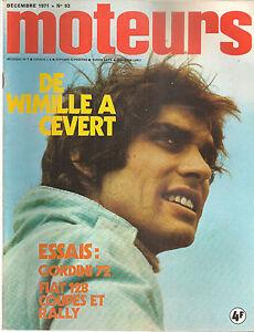 MOTEURS 93 1971 ALFA ROMEO 33/3 ALFASUD FIAT 128 COUPE 128 RALLY MEP X27 R12 GOR