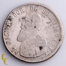 1865 Bolivia Melgarejo Silver Coin KM# 146