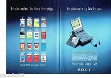 PUBLICITE ADVERTISING 116  1992   SONY (2p)  la data Discman livre éléctronique