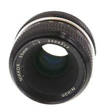 Nikon Nikkor Non AI 50mm F/2 Manual Focus Lens {52} - UG