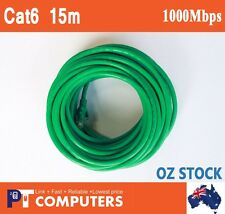 15m Premium Cat6 RJ45 Ethernet LAN  Cable Cord Lead 10/100/1000Mbps Green