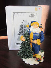 "KENT STATE U Golden Flashes Classic Santa 8"" NEW In BOX CHRISTMAS Memory Co"