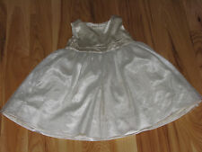BABY GAP GIRLS DRESS IVORY SATIN SILK TULLE SPECIAL OCCASION PARTY 18-24