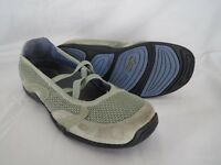 Ahnu Green Slip on Ballet Flats Loafers Sporty Comfy Walk Shoes Womens Size US 7