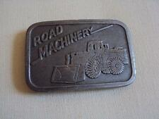 Vintage 1980's ROAD MACHINERY Solid Pewter Belt Buckle Hit Line USA LOOK!