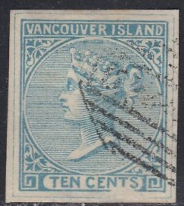 British Columbia 1865 10 cent blue Victoria Spiro forgery, counterfeit, fake.