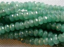5x8mm Natural Faceted Emerald Abacus Loose Beads Gemstone 15''