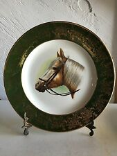"""Rare Royal Falcon England Large Horse Ironstone Plate 10"""" Weatherby Hanley"""