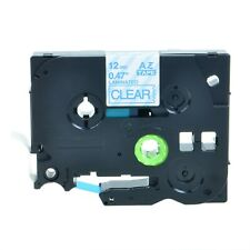 """Q-Label 12mm (1/2"""") TZe Tape Compatible For Brother P-Touch (Blue on Clear)"""