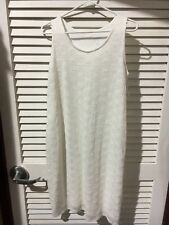 Ingrid & Isabel Womens Maternity Sleeveless Ivory Lace Tank Dress New with Tags