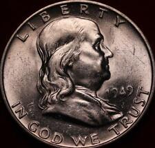 Uncirculated 1949-D Denver Mint Silver Franklin Half