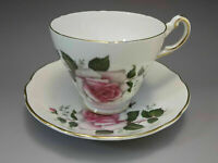 Regency Bone China England Tea Cup Saucer Set Pink Roses Bone China