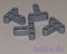 LEGO Technik - 4 x Liftarm 3x3 /  T -  Form / Dunkelgrau / 60484 NEUWARE