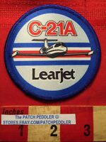 LEARJET C-21A Airplane Patch Air Force Military Version Of C35 Business Jet  62B