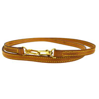 Authentic LOUIS VUITTON Shoulder Strap Leather Gold-Tone Brown Accessory 63EK704