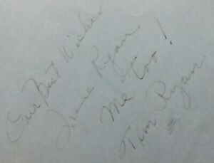 Irene Ryan & Bette Davis Signed album page,in black ink (1 page-2 signatures)