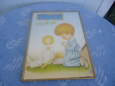vintage retro  wall mirror boys bedroom praying 1970's