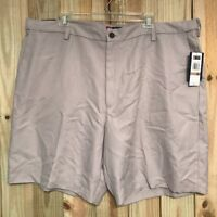 Chaps Khaki Shorts Casual Golf Polyester Flat Front Men's Size 42