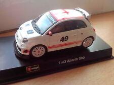 Fiat Abarth 500 Esseesse Grey Wheels 1:24 Scale Diecast burago New in Box 22121