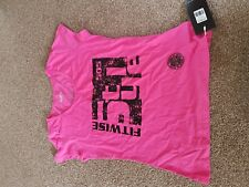 Fitwise Women's Short Sleeve T-Shirts Regular Fit Fashion Wear Gym Tops Pink