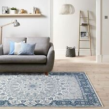 Deal!Blue Ivory Rug Distressed Allover Traditional Bohemian Print Carpet 120x170